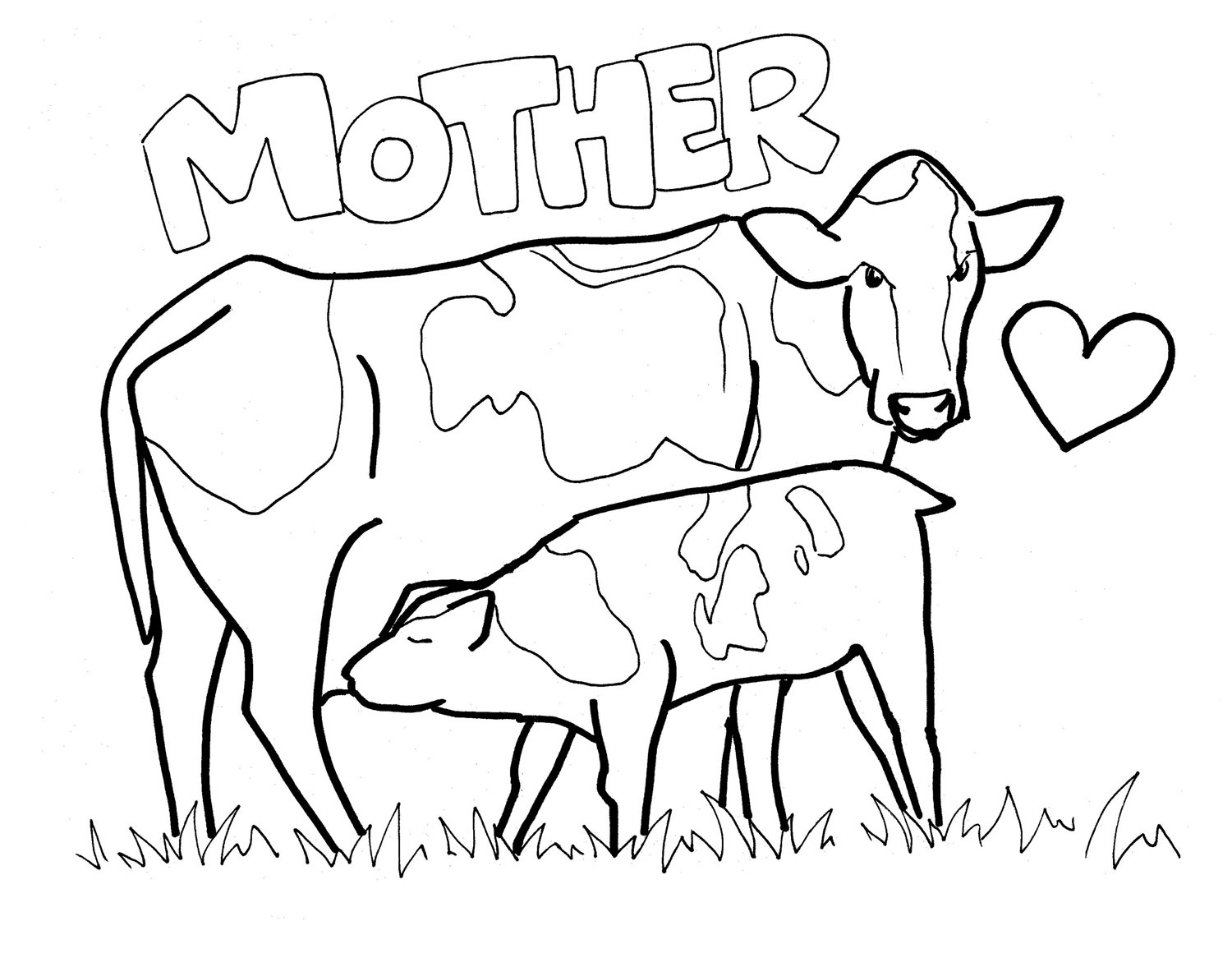 Printable Cow Coloring Pages | Coloring Me