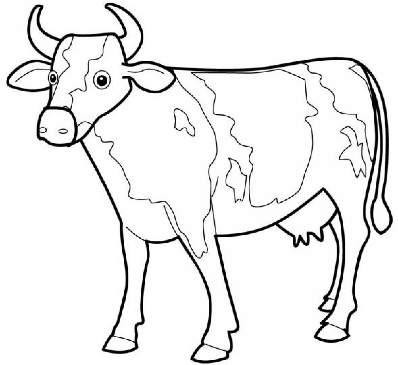 Printable Cow Coloring Pages Coloringme Com