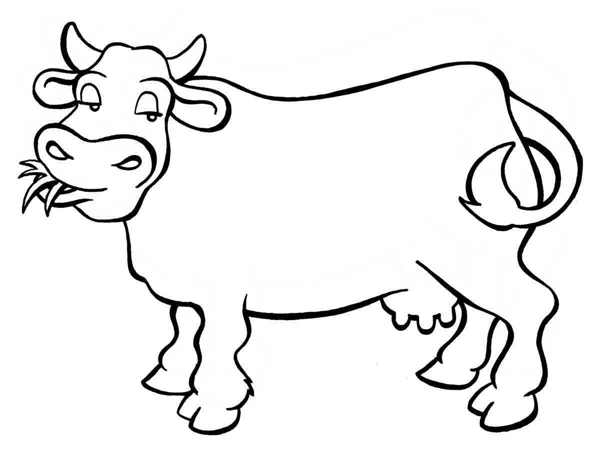 Cow coloring picture - photo#7