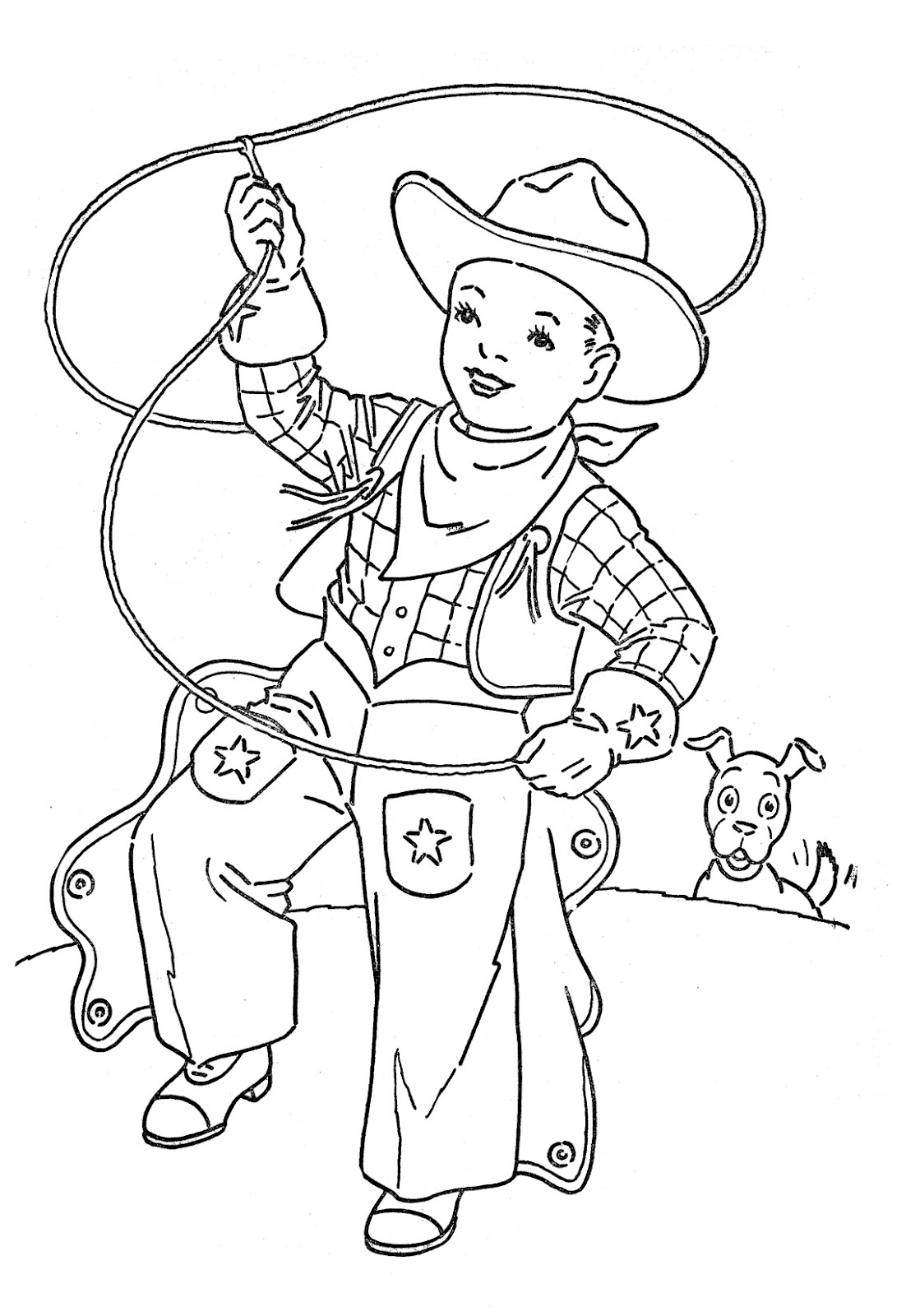 printable cowboy coloring pages me - Color Pages For Kids