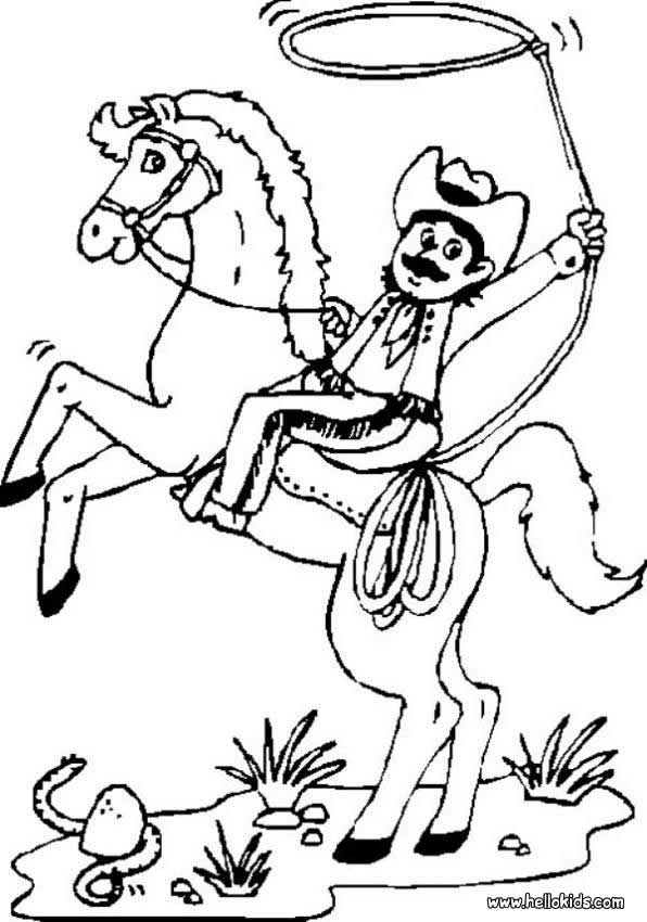 c is for cowboy coloring pages - photo #27