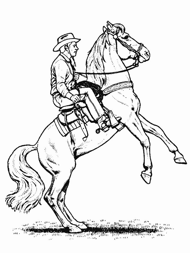 free printable coloring pages cowboys - photo#28