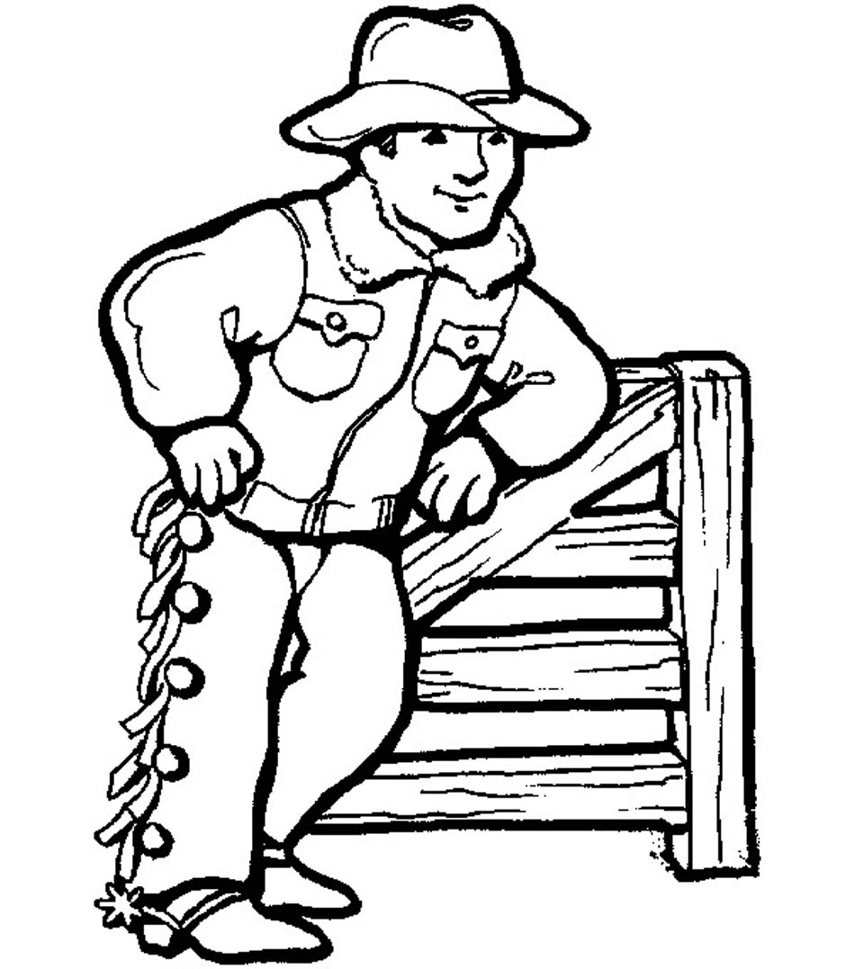 Coloring pages violetta - Cowboy Coloring Sheets