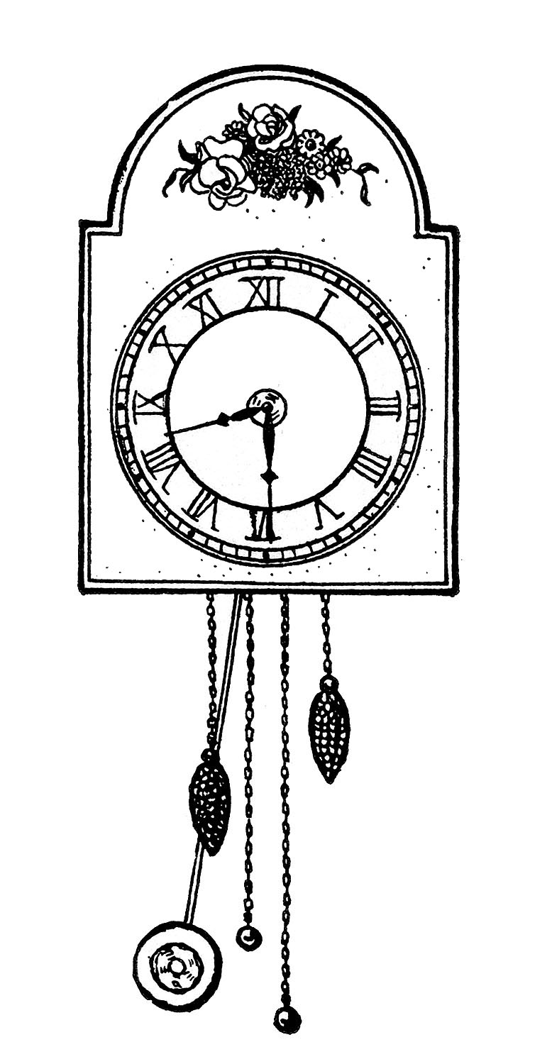 Cuckoo Clock Coloring Pages Murderthestout
