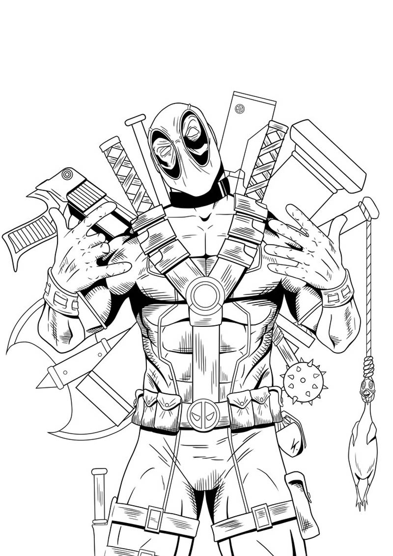 Deadpool Coloring Pages: Deadpool Coloring Pages Com Coloring Pages