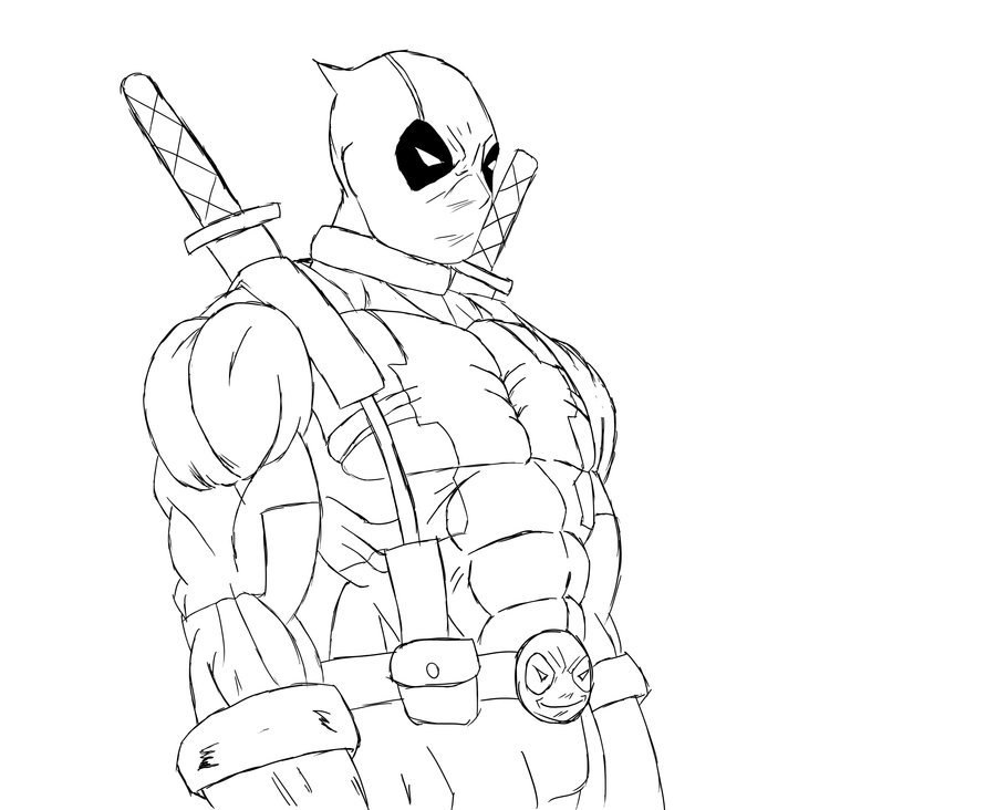 Deadpool Coloring Pages: Free Deadpool Black And White Coloring Pages