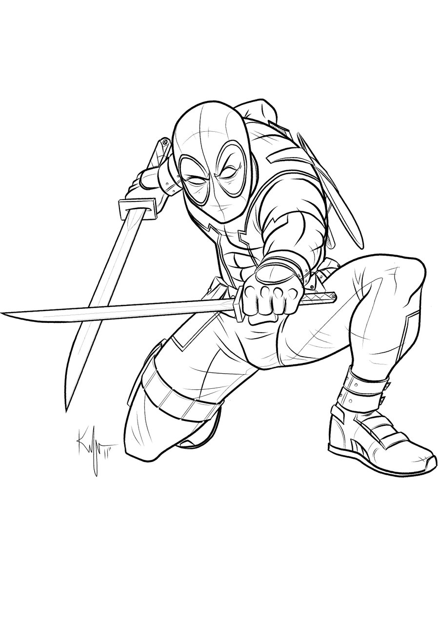 Printable Deadpool Coloring Pages | ColoringMe.com
