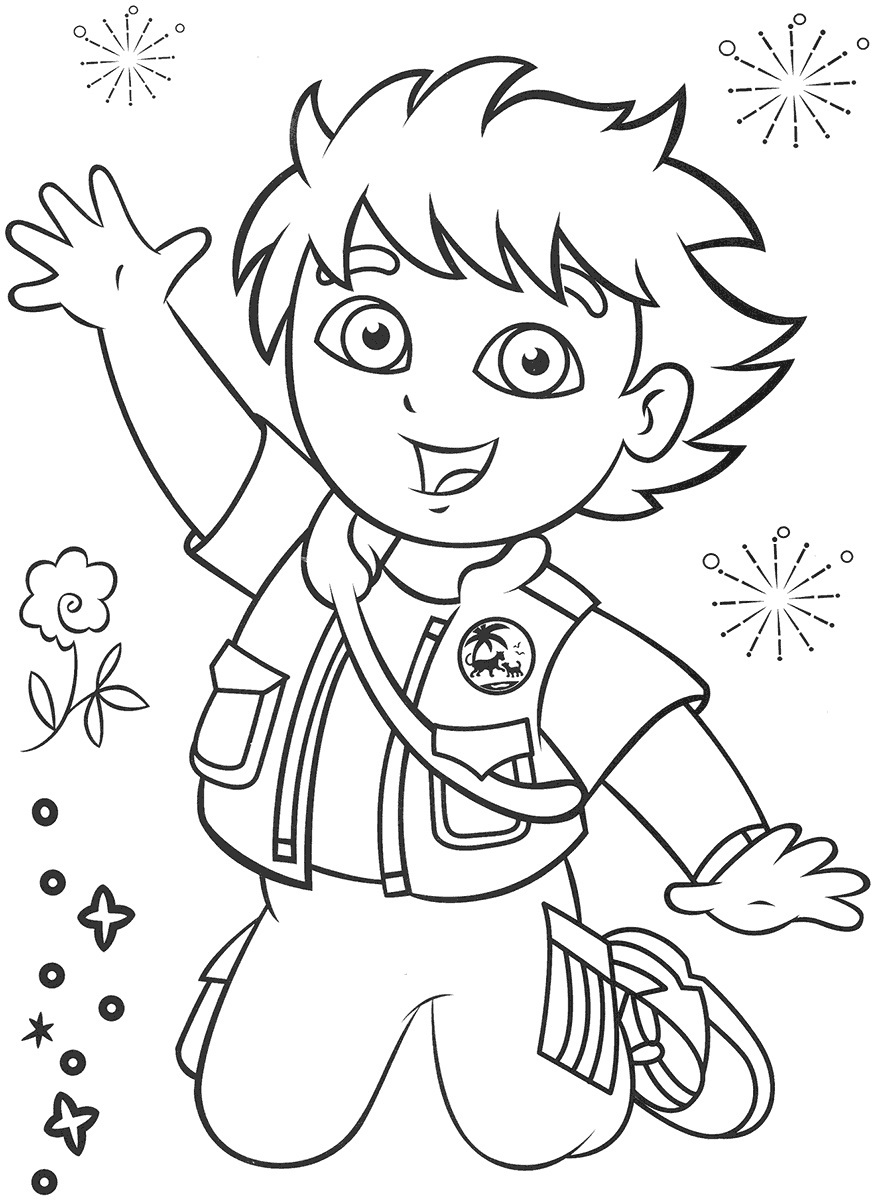 Printable Diego Coloring Pages Coloring Me Diego Coloring Pages Free
