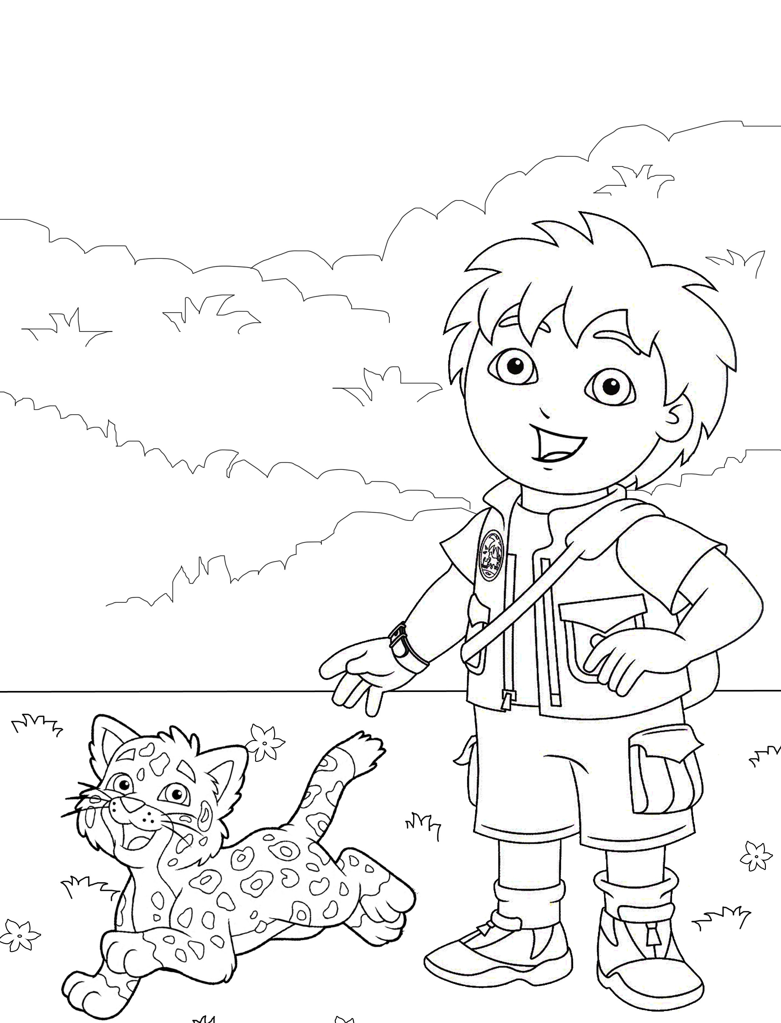 Printable Diego Coloring Pages Coloring Me Diego Coloring Pages