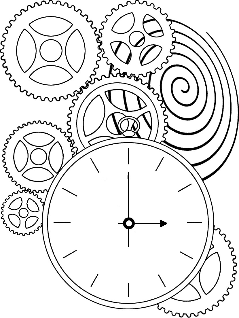 Cuckoo Clock Coloring Page Coloring Pages