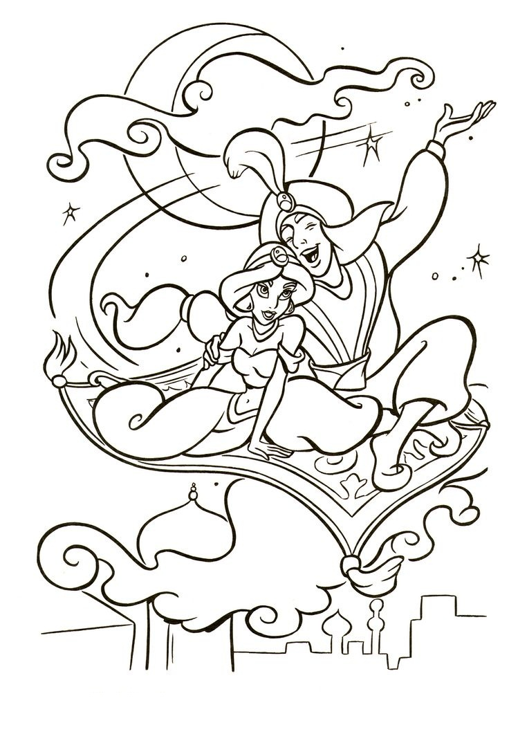 aladdins carpet coloring pages - photo#28