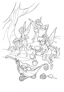 Disney Fairies Coloring Pages for Kids