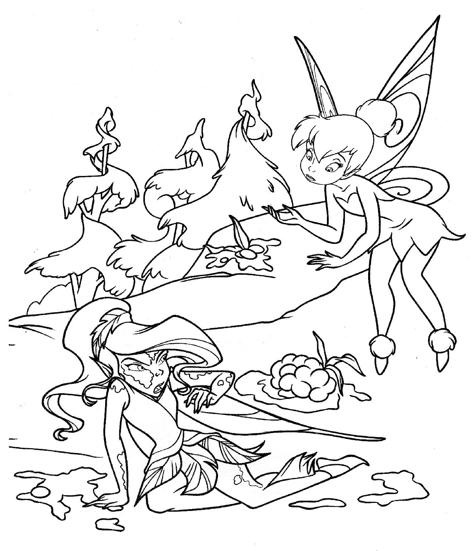 coloring pages fairies | Disney Fairies Coloring Pages Silvermist ... | 1500x1289