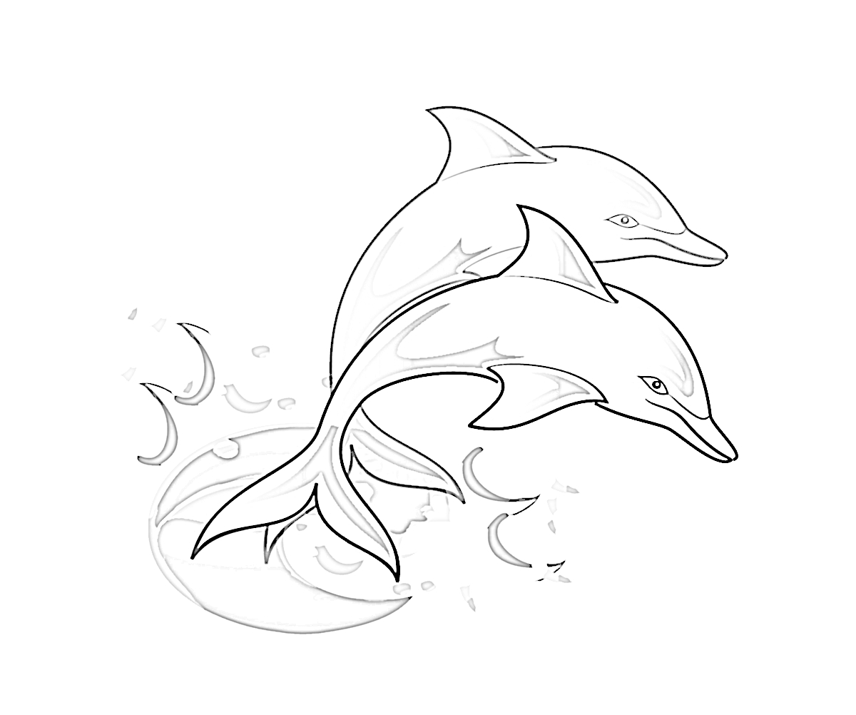 Printable Dolphin Coloring Pages | ColoringMe.com