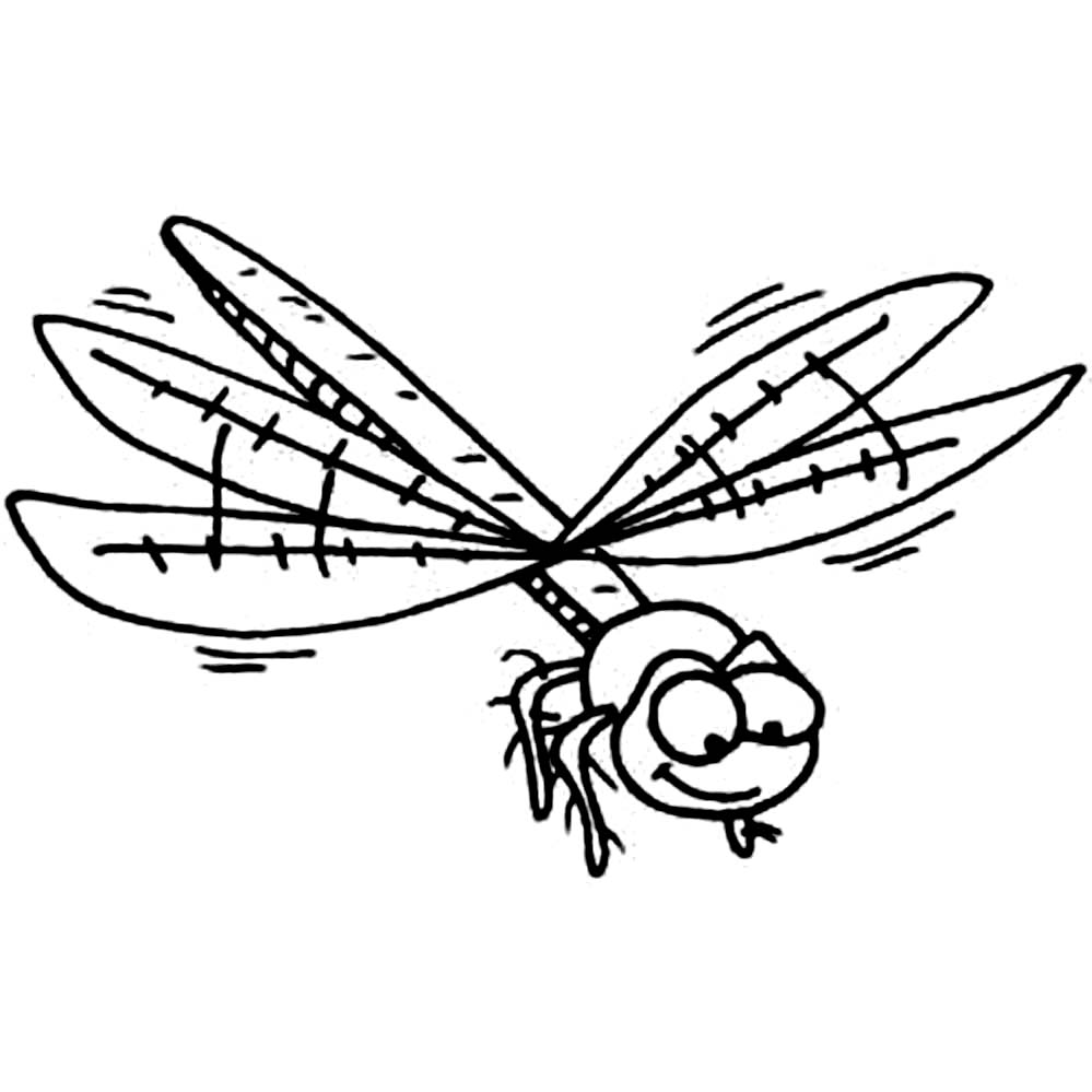 Dragonfly Coloring Pages Sketch Coloring Page