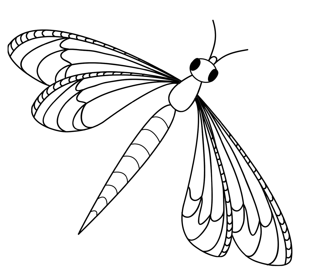 Dragonfly coloring pages kidsuki for Dragonfly coloring pages