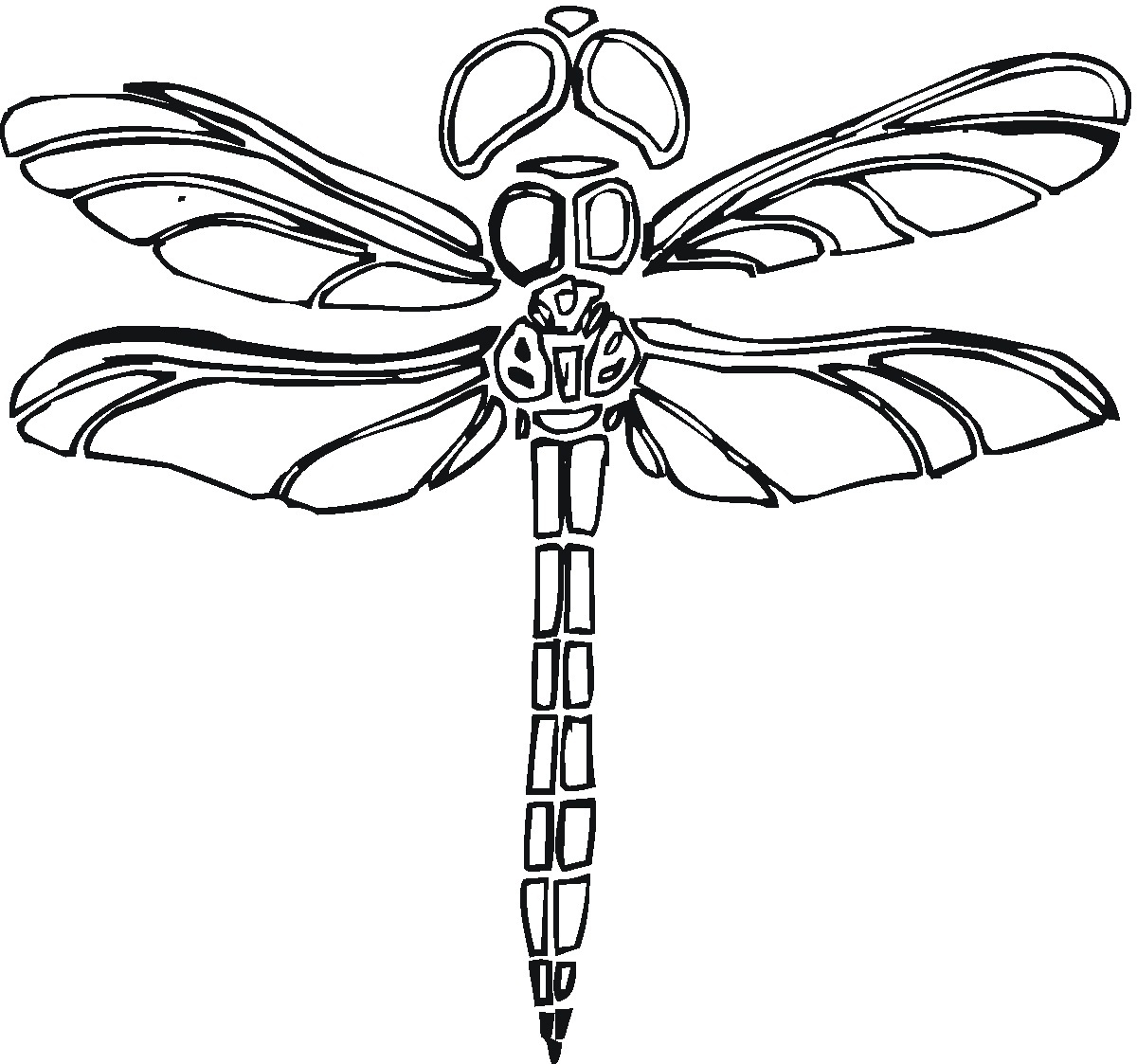 Dragonfly Coloring Book Images, Stock Photos & Vectors | Shutterstock | 1123x1200