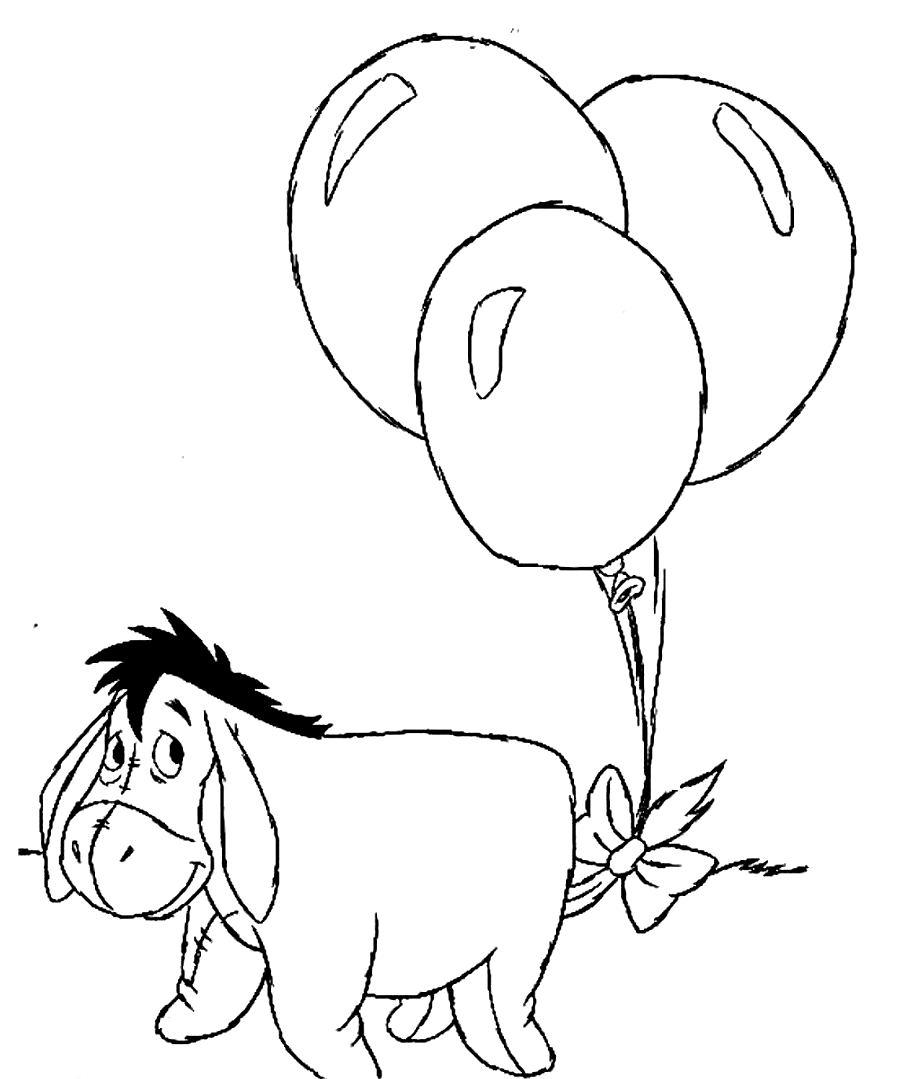coloring pages eeyore - photo#5