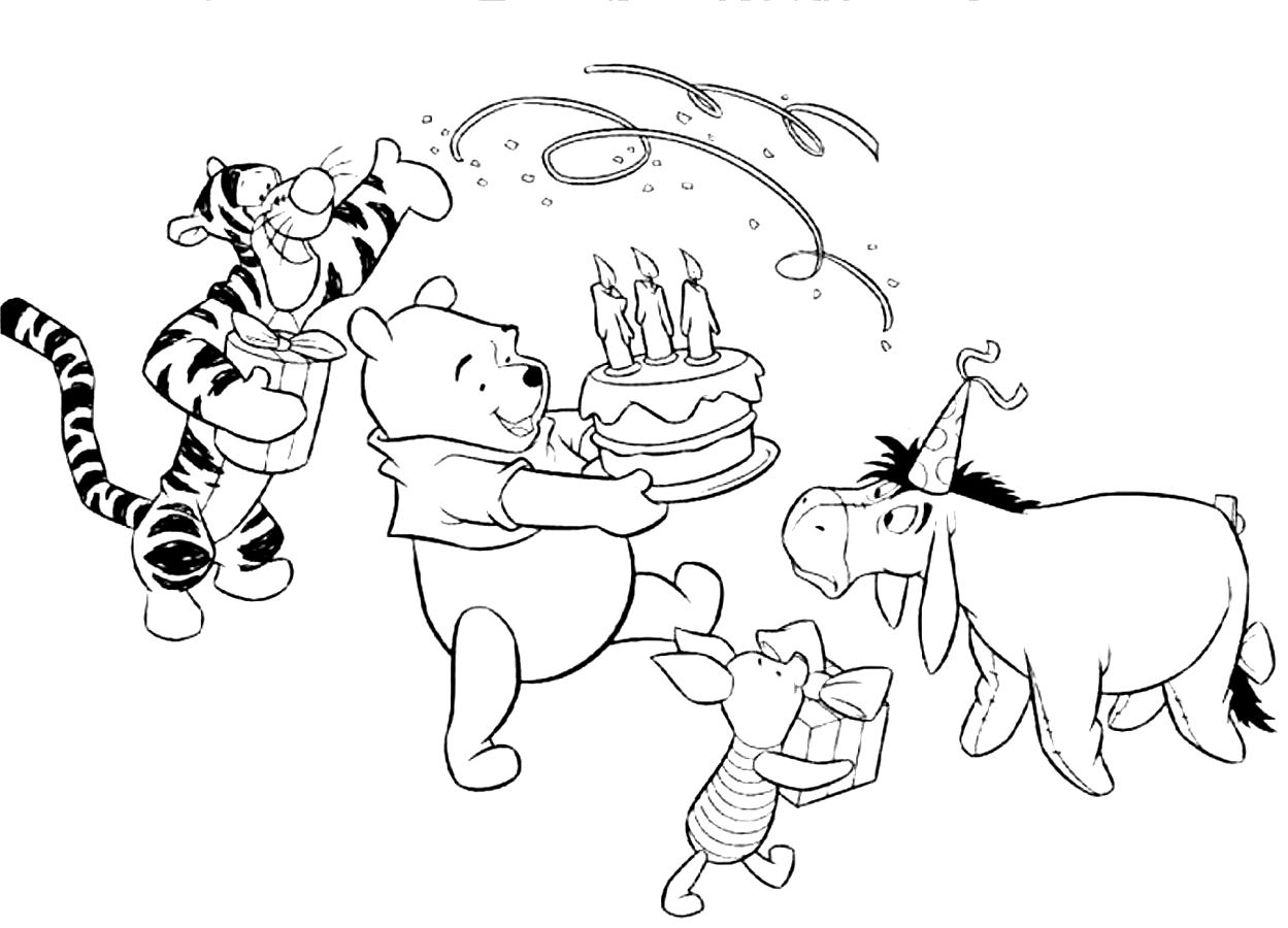 Printable eeyore coloring pages coloring me - Color for th birthday ...