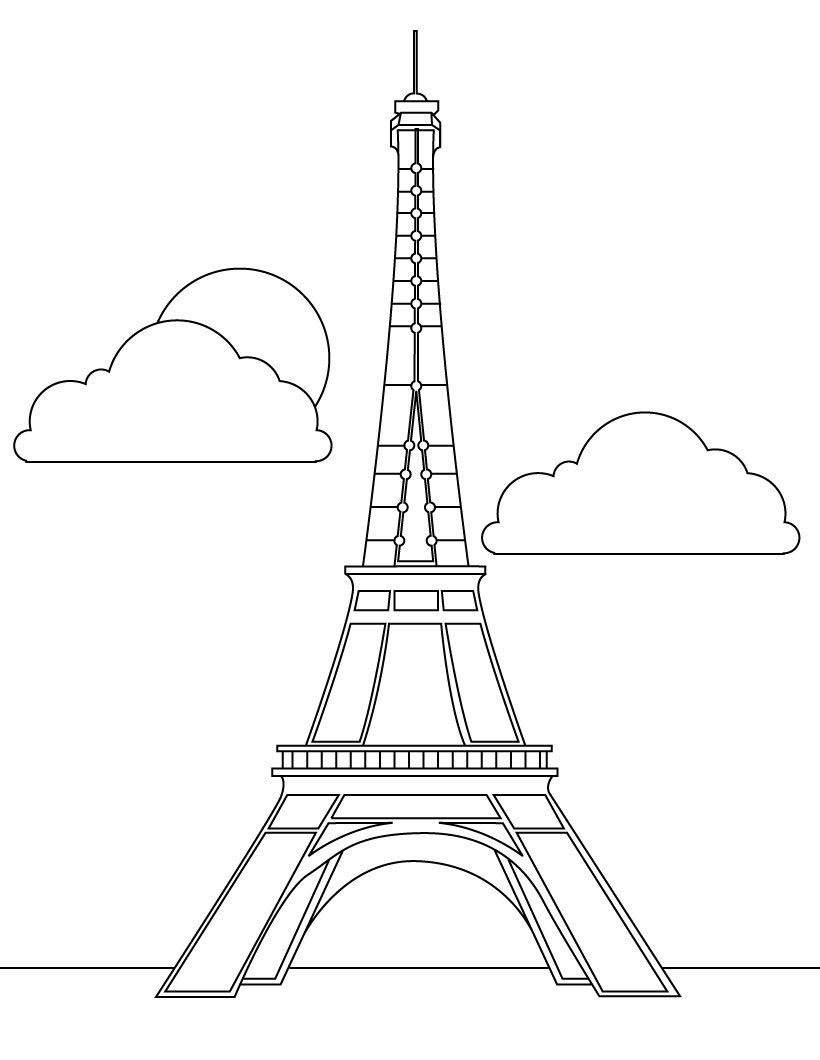 printable eiffel tower coloring pages coloring me