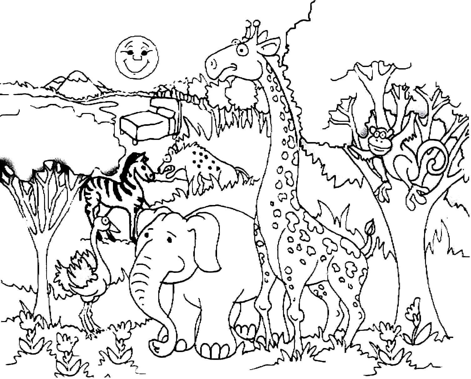 Printable Giraffe Coloring Pages | Coloring Me