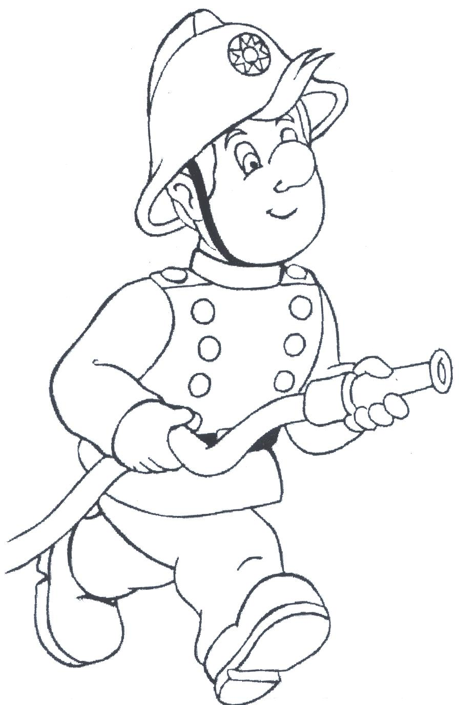 free coloring pages of firefighter Firefighter Coloring Pages for Preschool  Coloring Firefighter