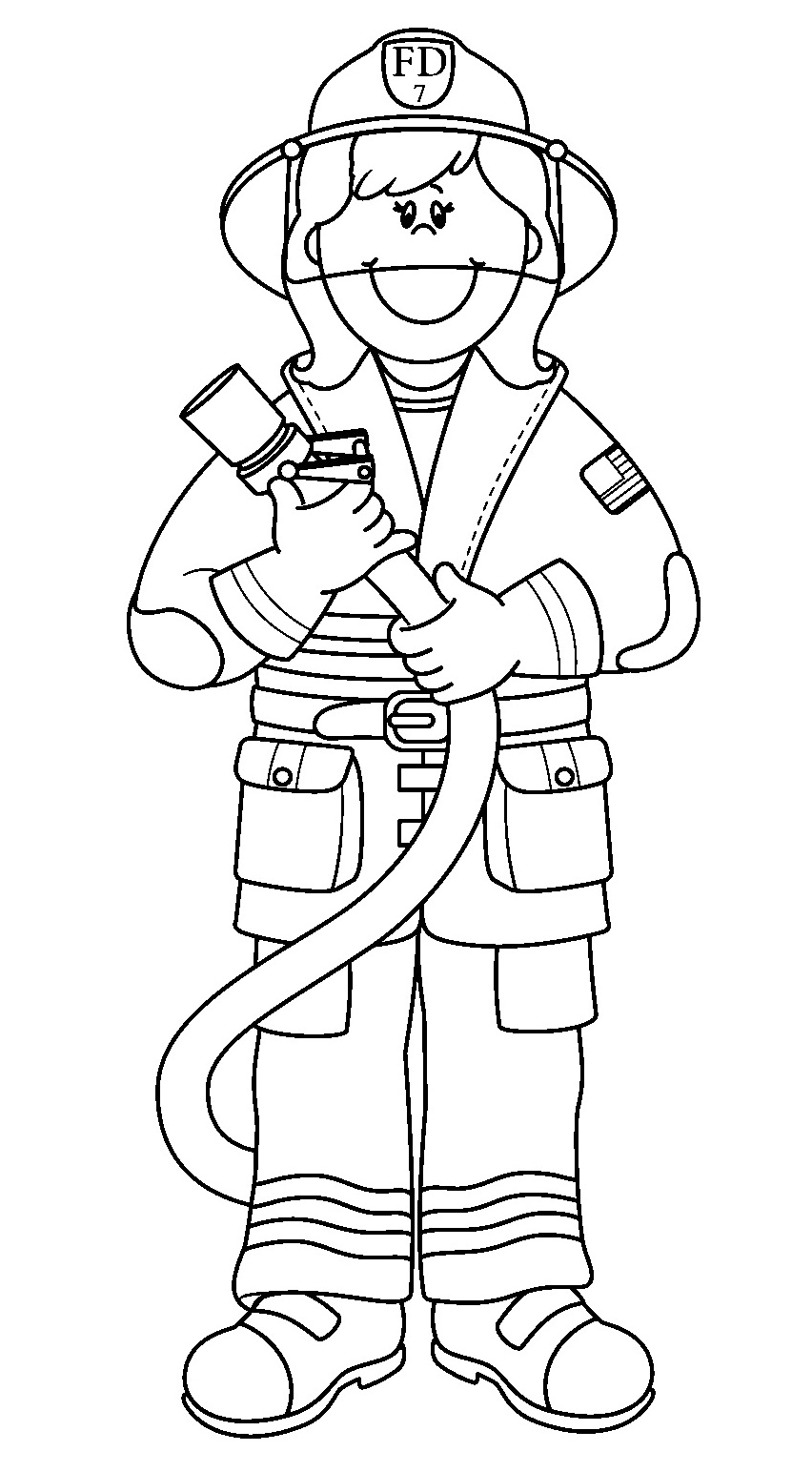 free coloring pages of fireman back to Firefighter Coloring Pages for Preschool  Coloring Firefighter