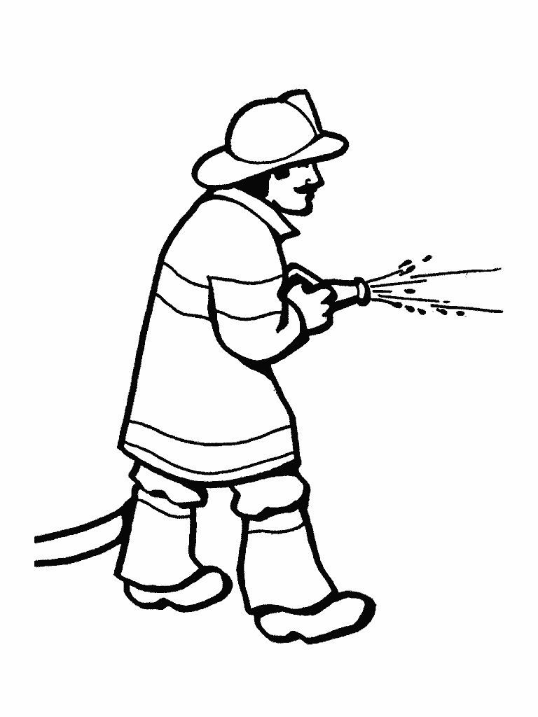 fire man coloring pages - photo#35
