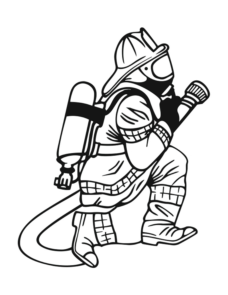 printable firefighter coloring pages - photo#4