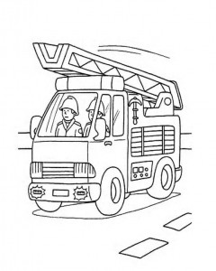 Firefighter Coloring Printables