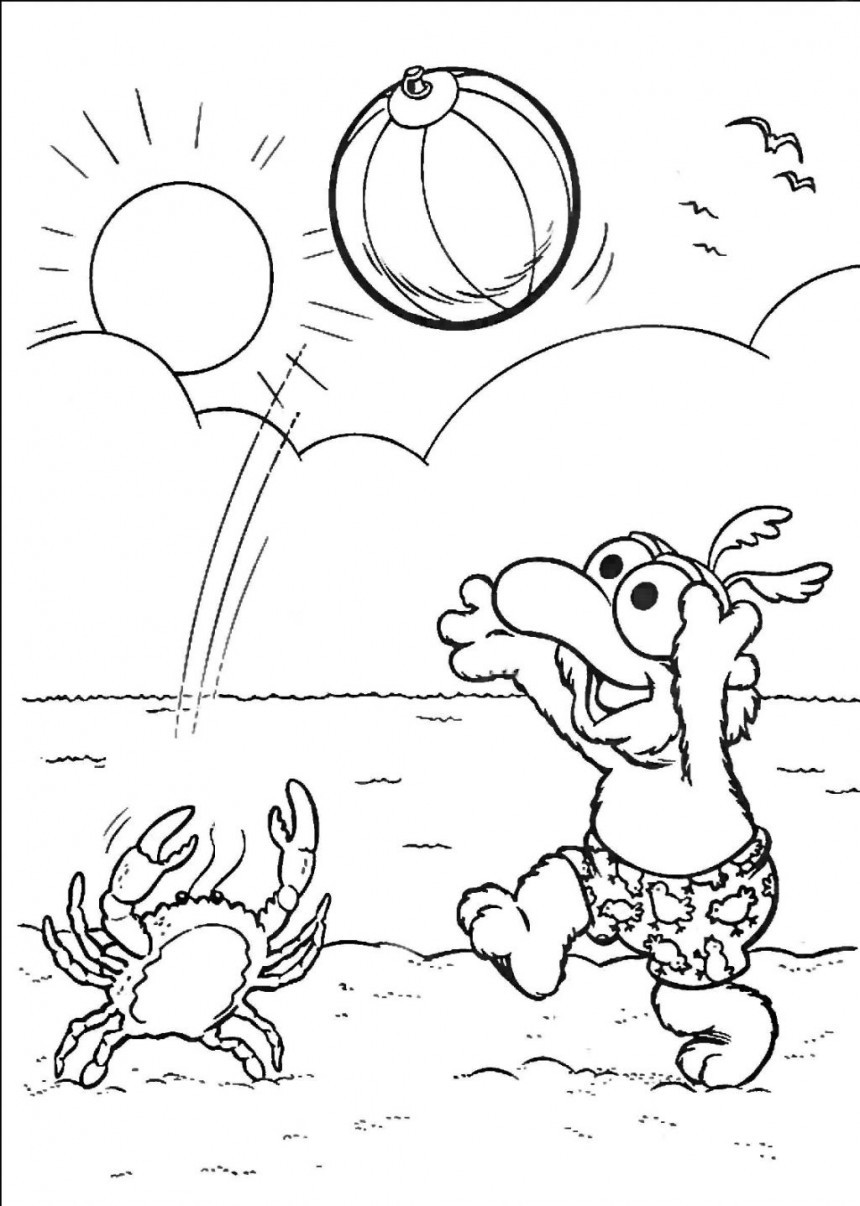 Free Beach Coloring Pages Printable
