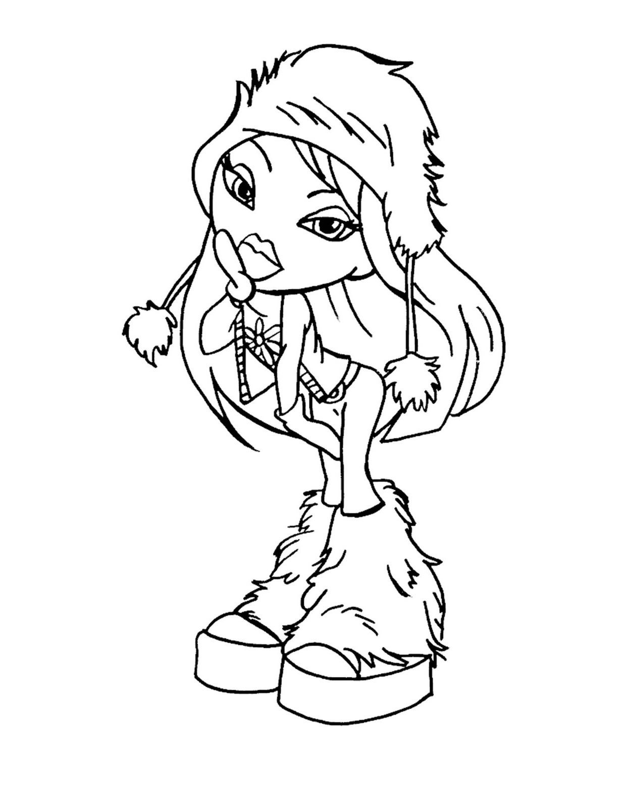 Bratz coloring picture | 1600x1236