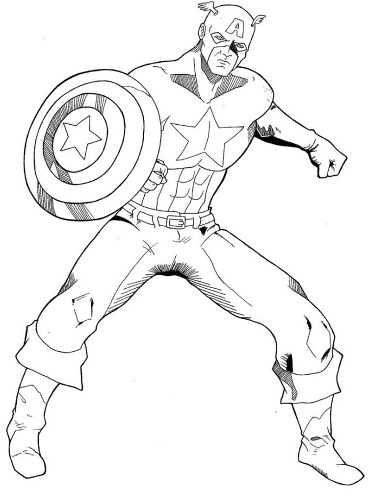 Captain america logo coloring coloring pages for Coloring pages captain america