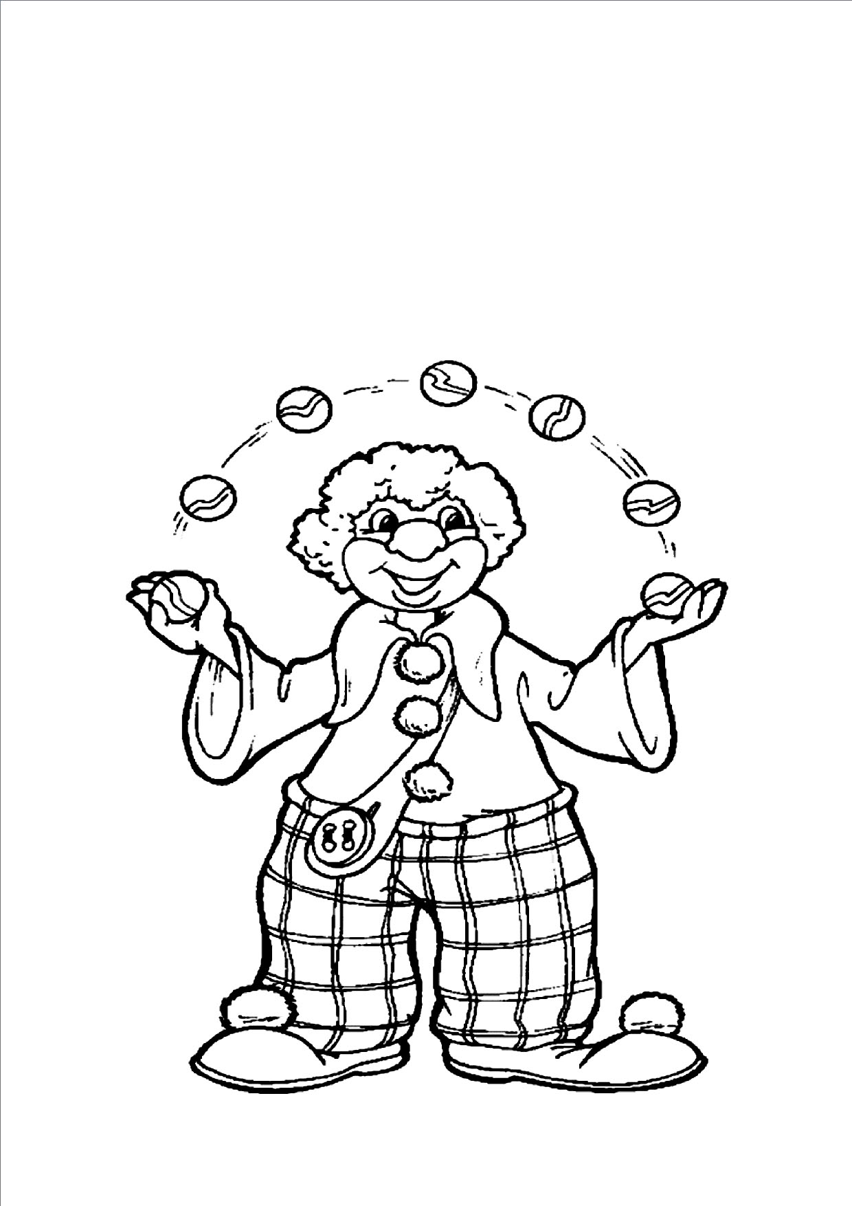 clown coloring pages free printable - photo#25