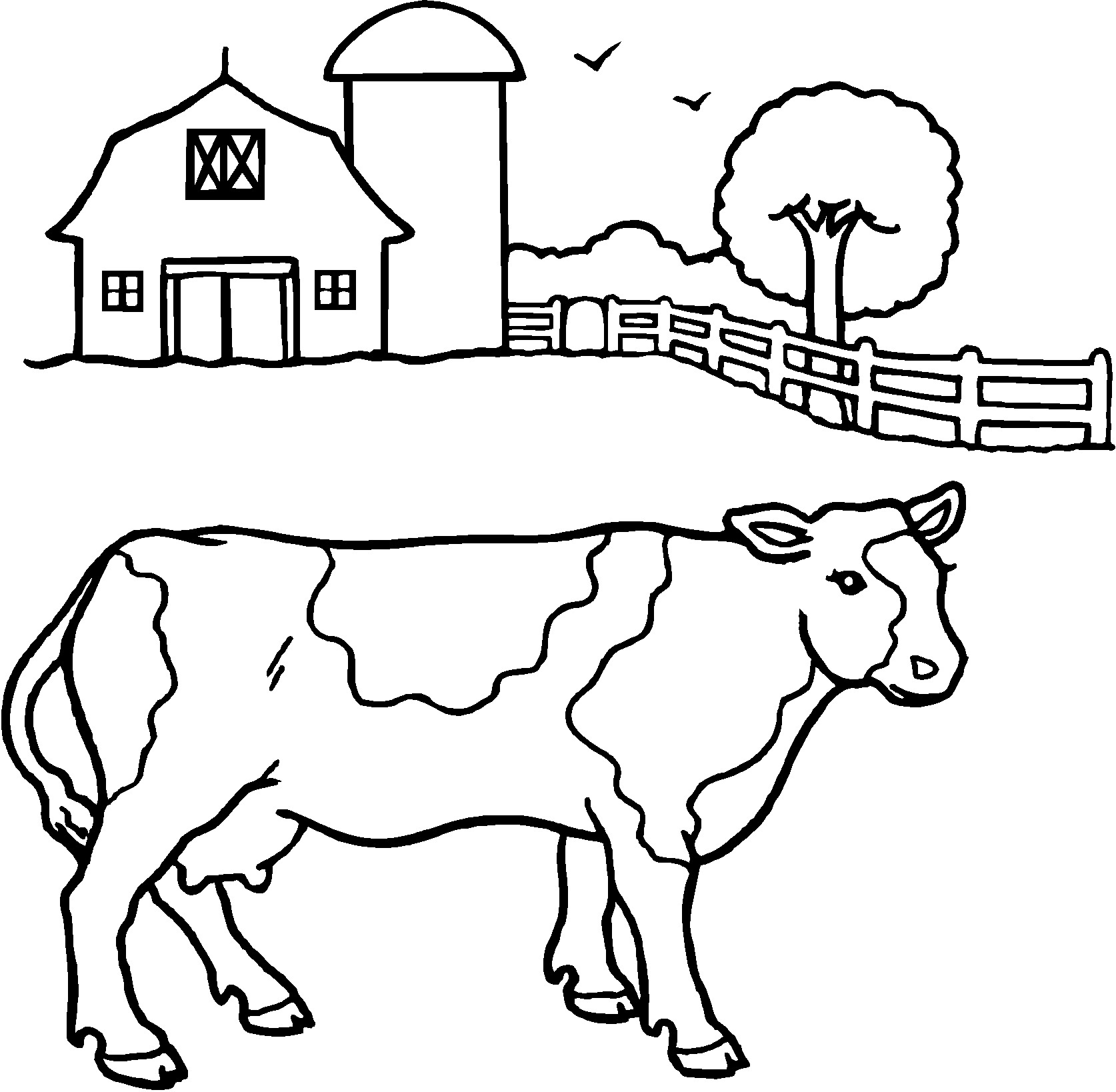 cow coloring pages print - photo#23