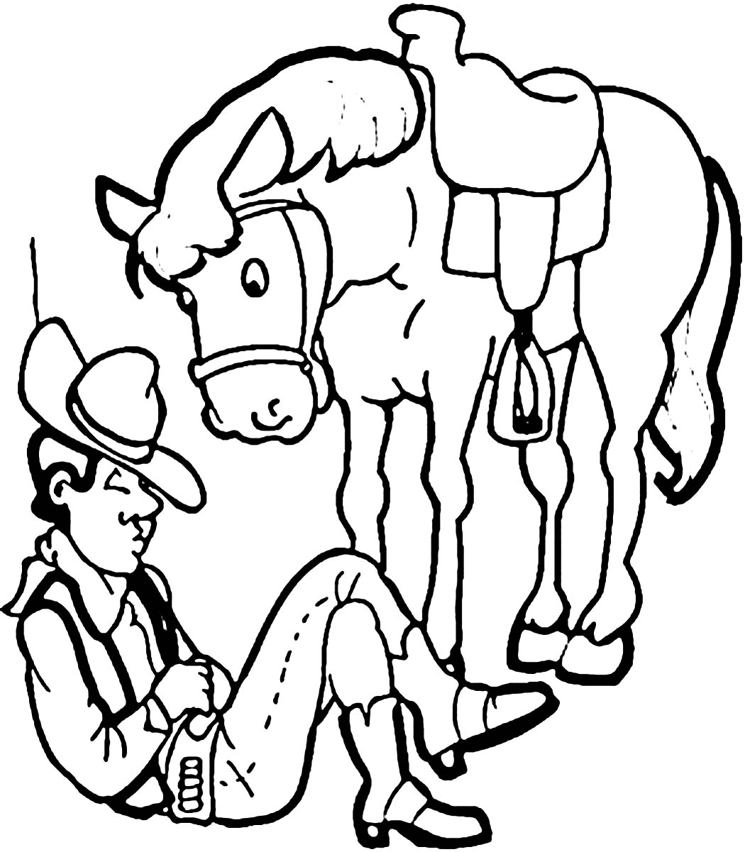 free printable coloring pages cowboys - photo#18