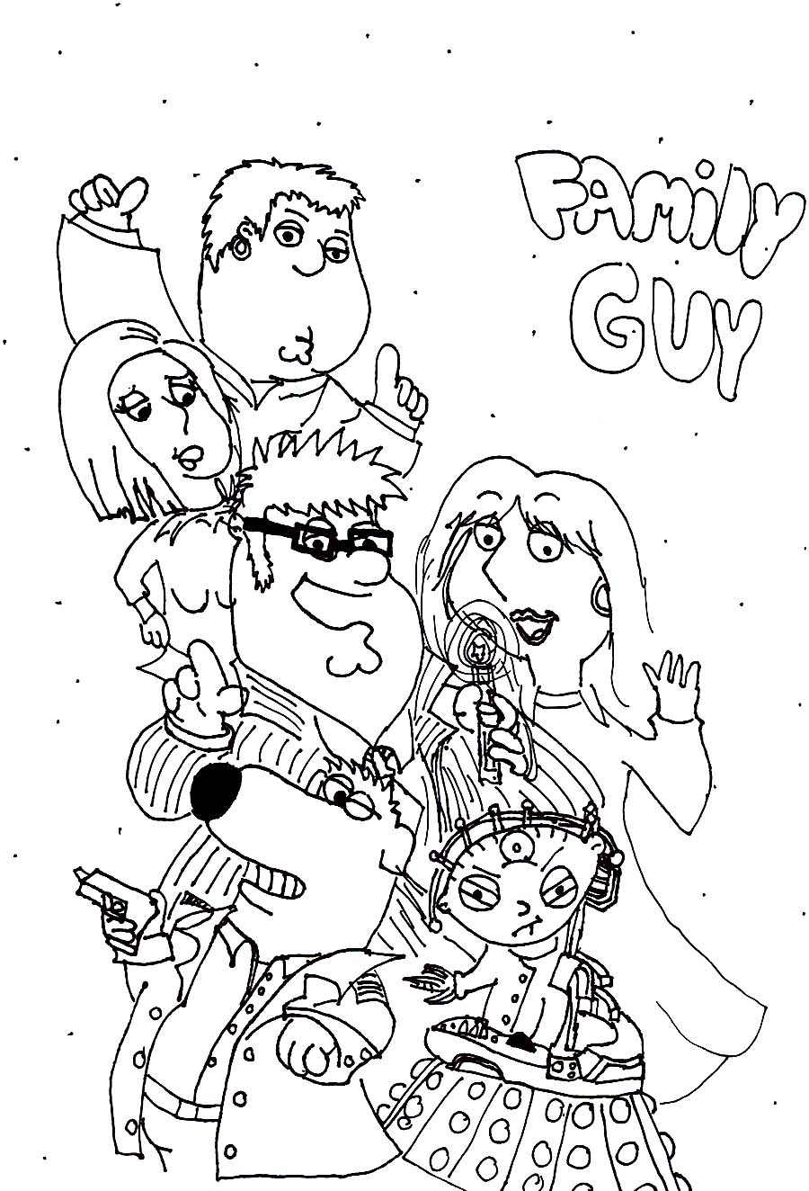 Uncategorized Family Guy Coloring Page printable family guy coloring pages me sheets