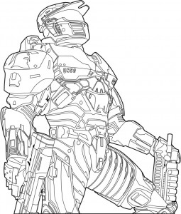 Free Halo Coloring Pages to Print