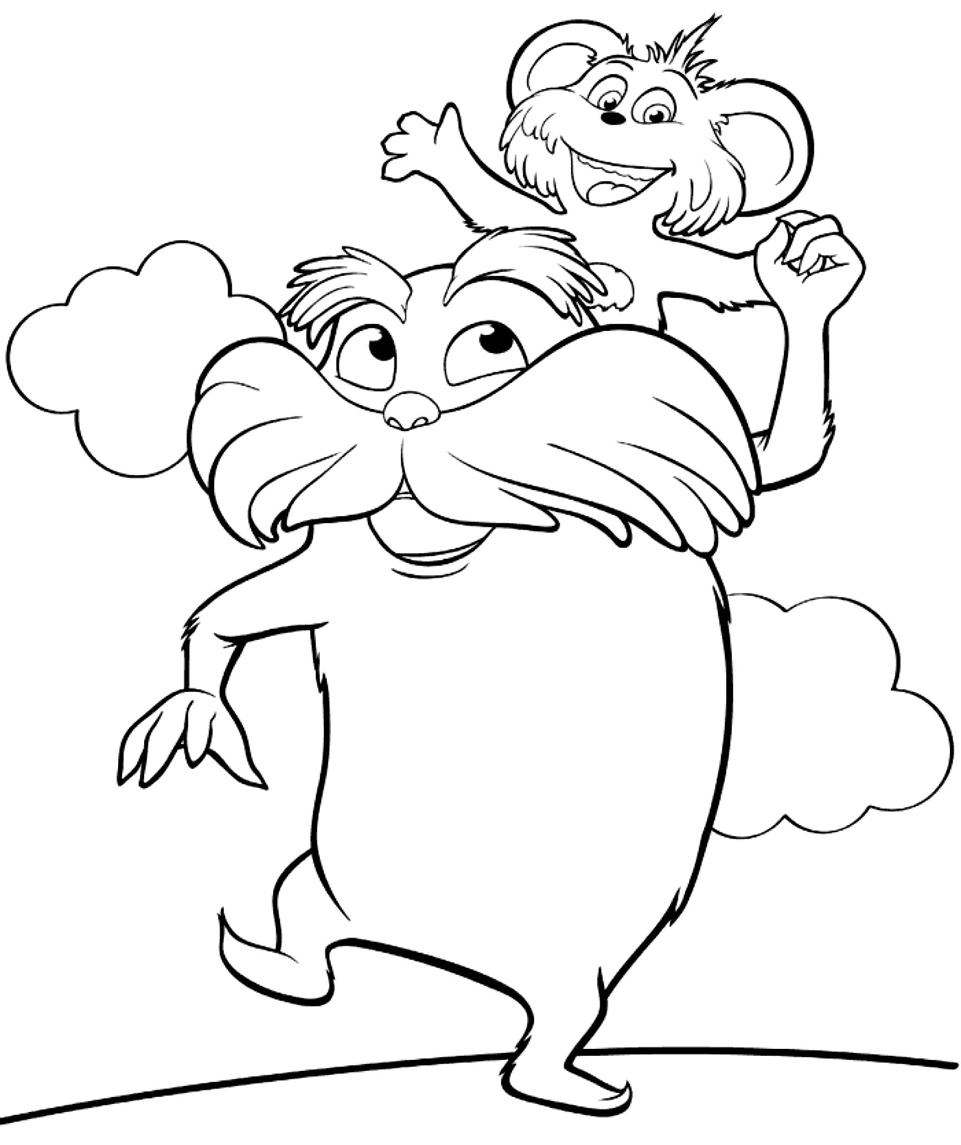Gallery For gt Lorax Clip Art Black And White