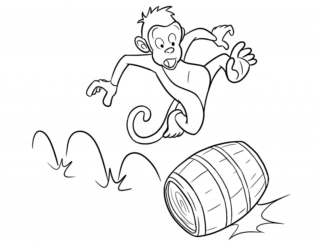 printable monkey coloring pages coloring me