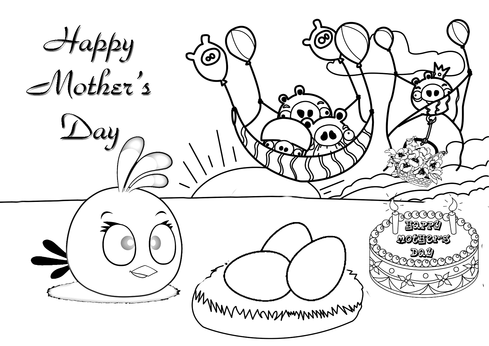 free mothers day coloring pages - Free Mothers Day Coloring Pages