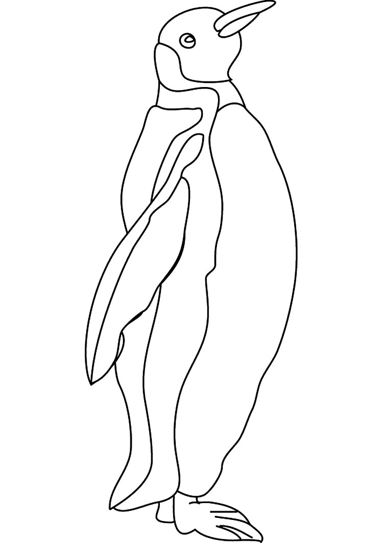 Coloring pages of penguins in love