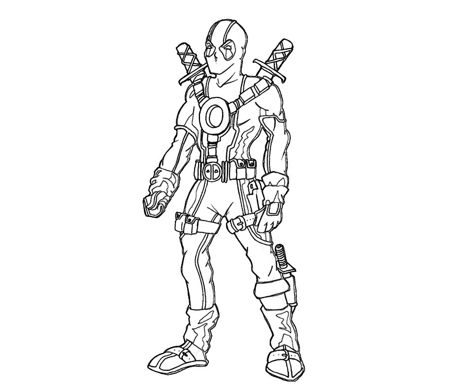 Deadpool chibi coloring pages for Chibi deadpool coloring pages