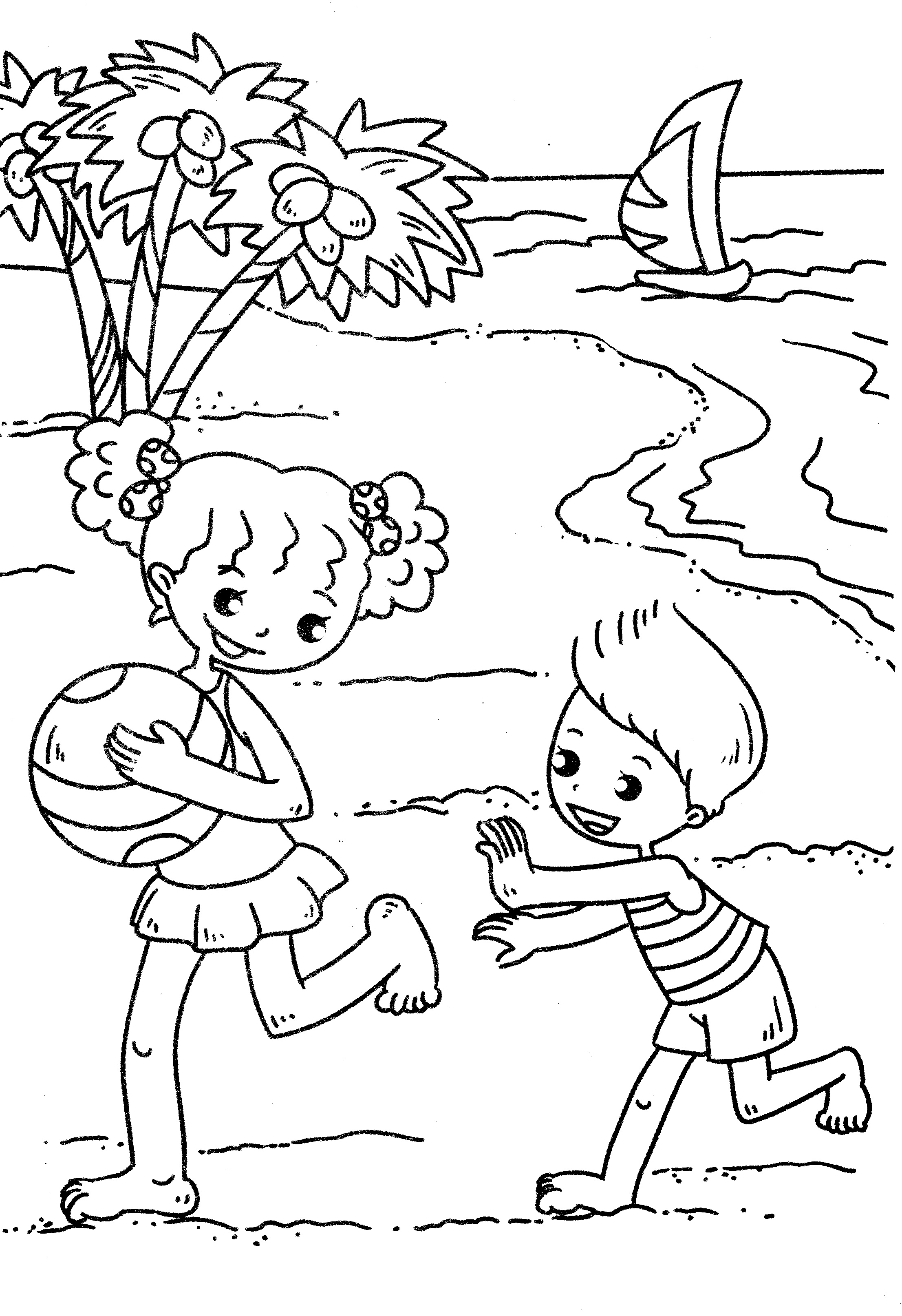 free online beach coloring pages - photo#21