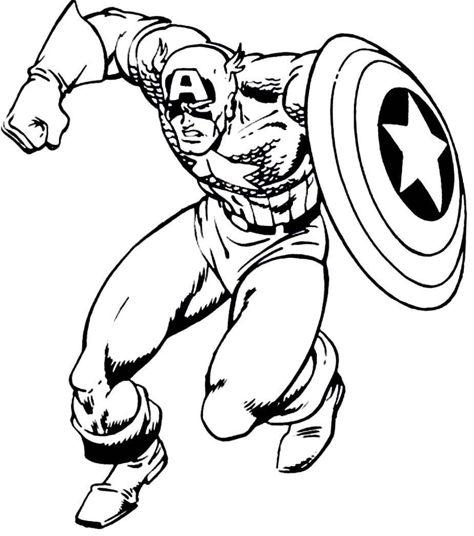 Free coloring pages of superhero shield for Captain america shield coloring page