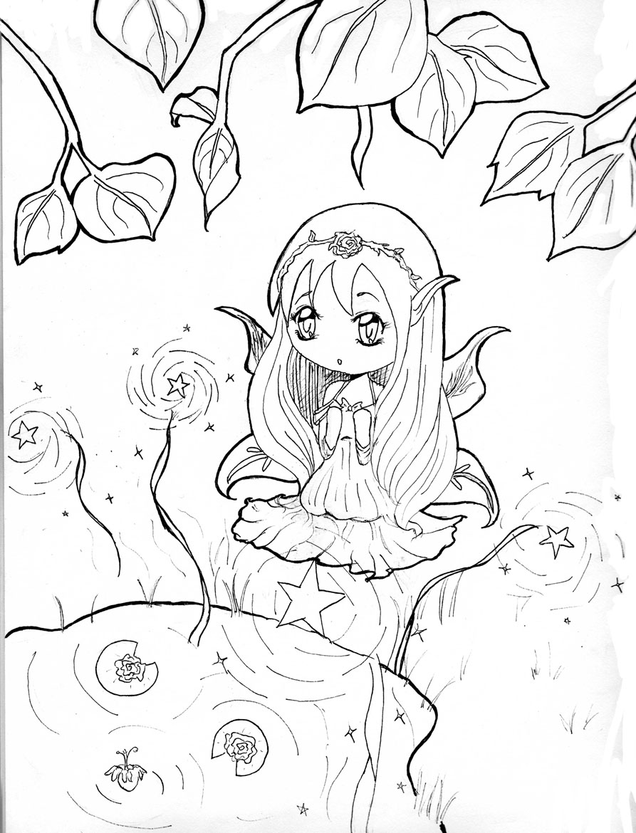 printable chibi coloring pages coloring me