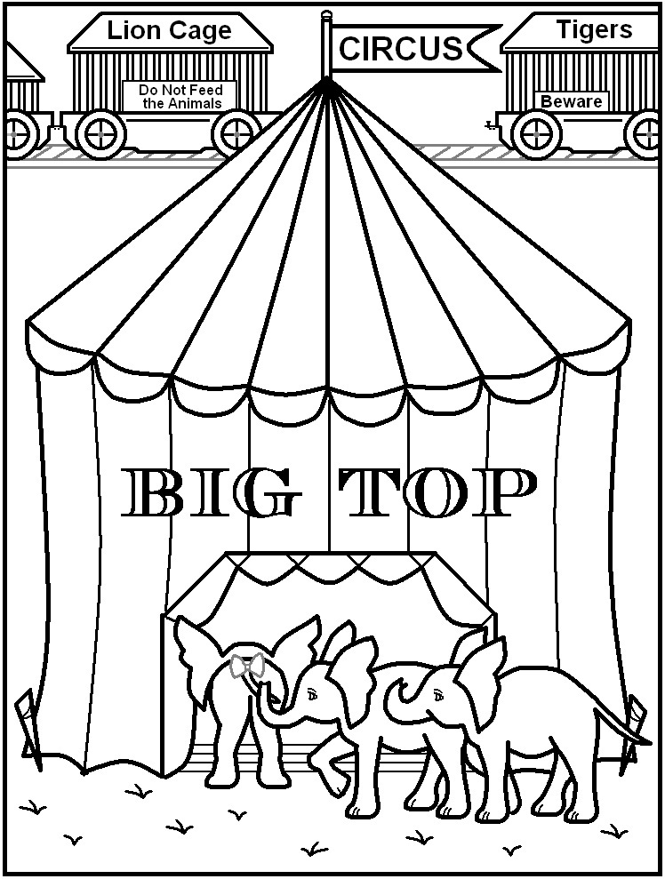 coloring pages and circus - photo#35