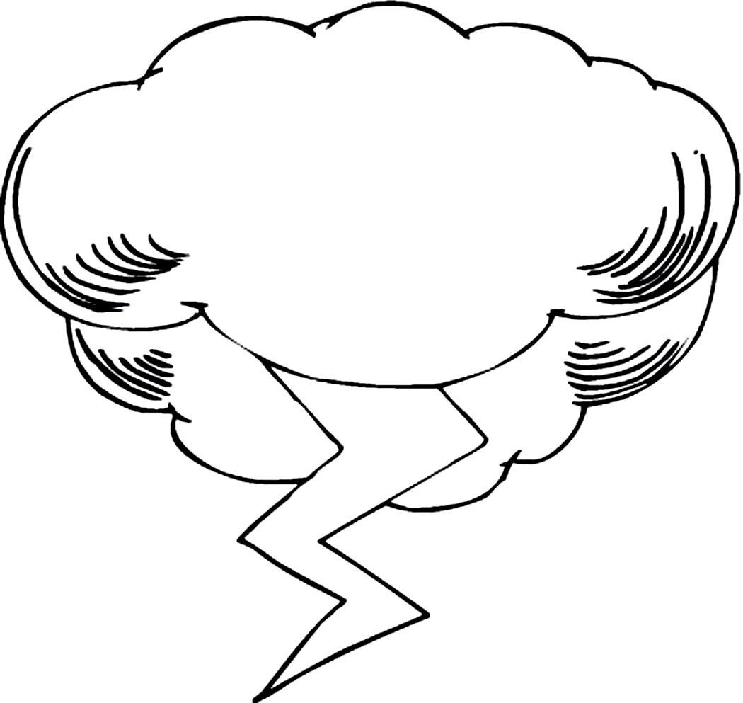 free cloud coloring pages - photo#34