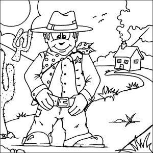 free printable cowboy coloring pages coloring me