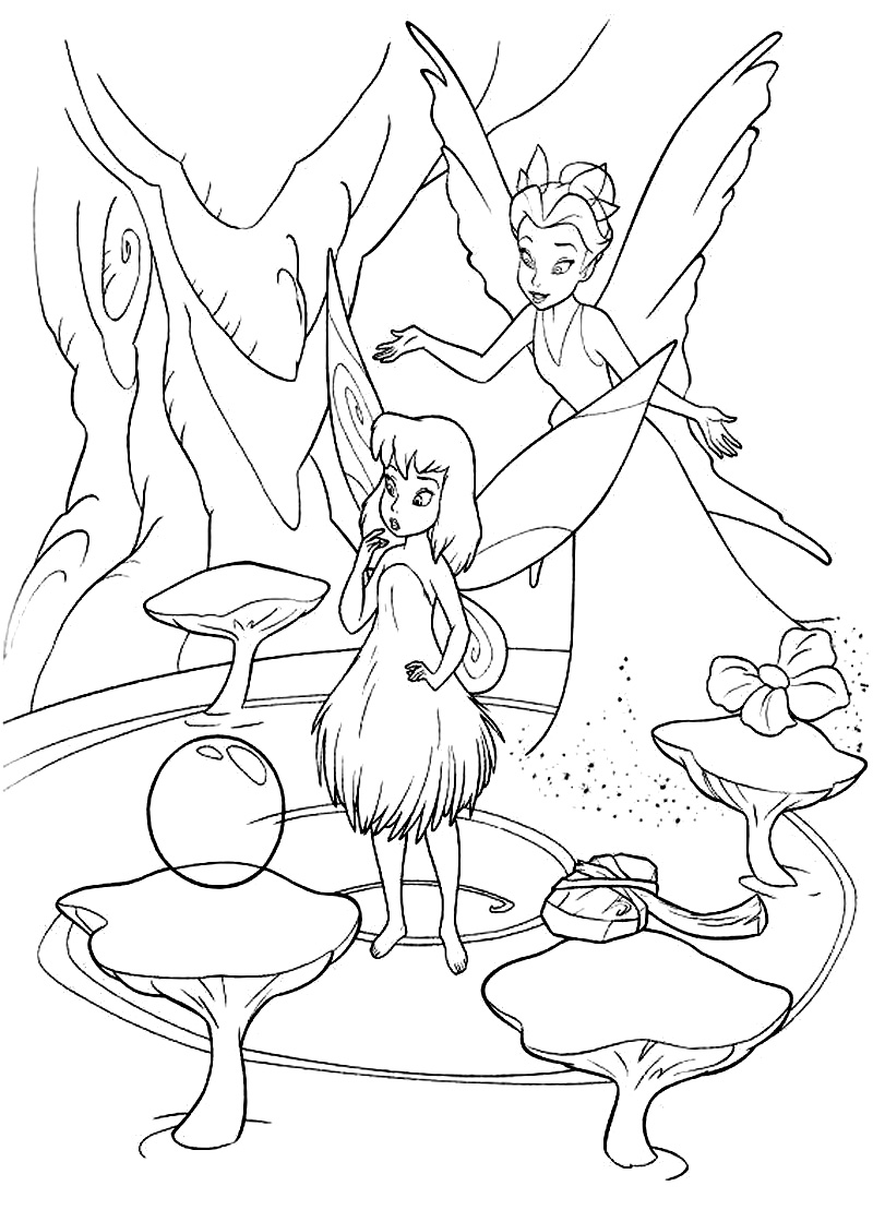Disney Fairies Coloring Pages Printable Free Disney Fairies